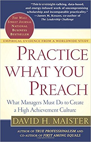 Practice What You Preach - David Maister book cover